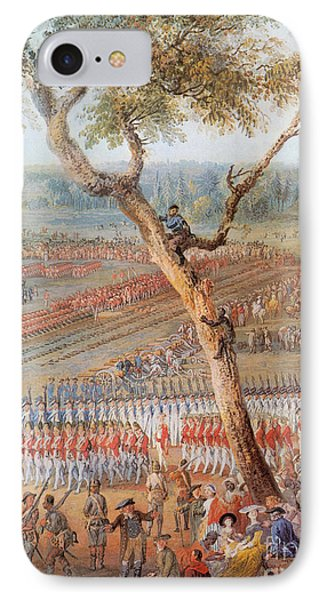 British Troops Surrender At Yorktown IPhone Case by Photo Researchers