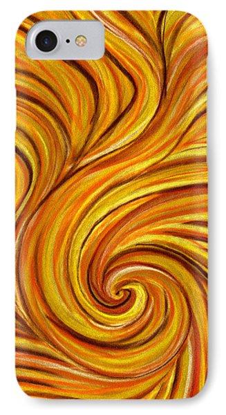 Brown Swirl Phone Case by Hakon Soreide