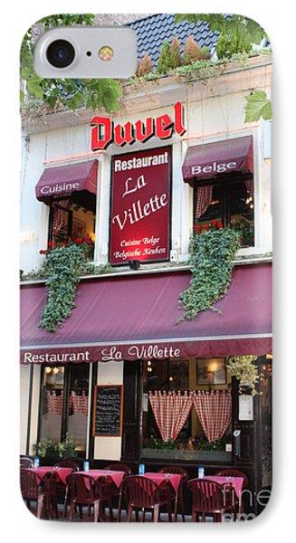 Brussels - Restaurant La Villette With Trees Phone Case by Carol Groenen