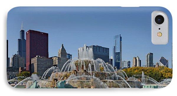 Buckingham Fountain Chicago Phone Case by Christine Till