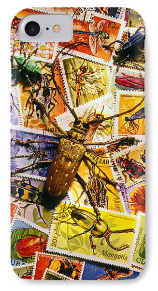 Bugs On Postage Stamps Phone Case by Garry Gay