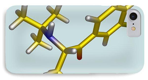 Bupropion Drug Molecule Phone Case by Dr Tim Evans