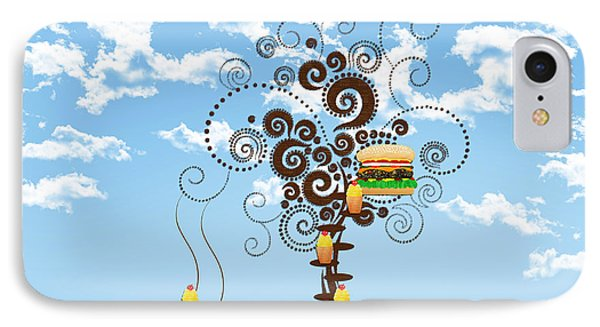 Burger Tree House And The Cupcake Kids  Phone Case by Andee Design