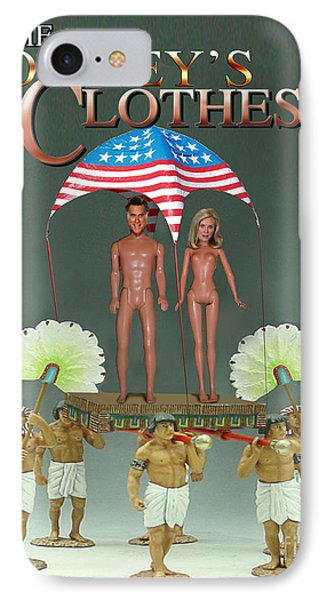But-but They Are Not Wearing Any Clothes - Mitt Ken And Anne Barbie Romney  IPhone Case by Reggie Duffie