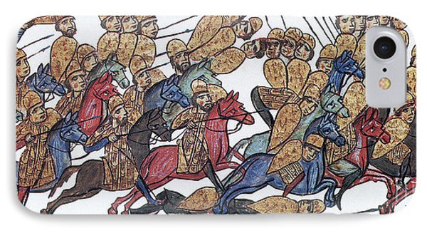 Byzantine Cavalrymen Rout Bulgarians Phone Case by Photo Researchers