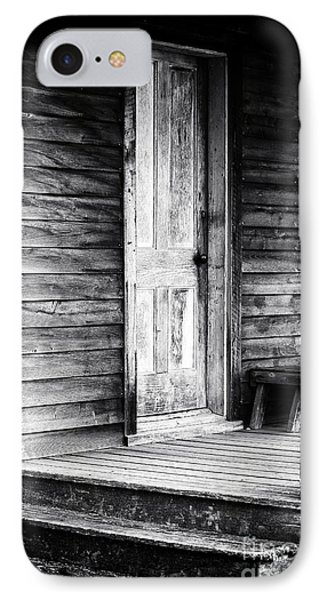 Cabin Door IPhone Case by John Rizzuto