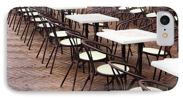 Cafe Tables And Chairs IPhone Case by Jeremy Woodhouse