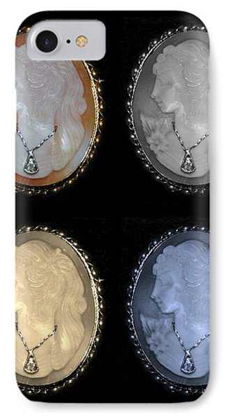 Cameo In Quad Colors Phone Case by Rob Hans