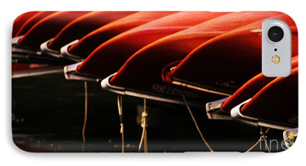 Canoes Of Red Phone Case by Bob Christopher