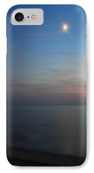 Cape Cod Bay Dusk Moon Phone Case by John Burk