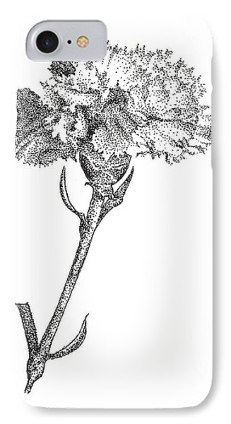 Carnation IPhone Case by Christy Beckwith