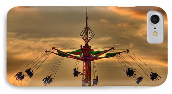 Carnival Ride Phone Case by Nicholas  Grunas