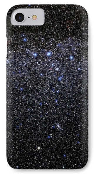 Cassiopeia And Andromeda Constellations Phone Case by Eckhard Slawik