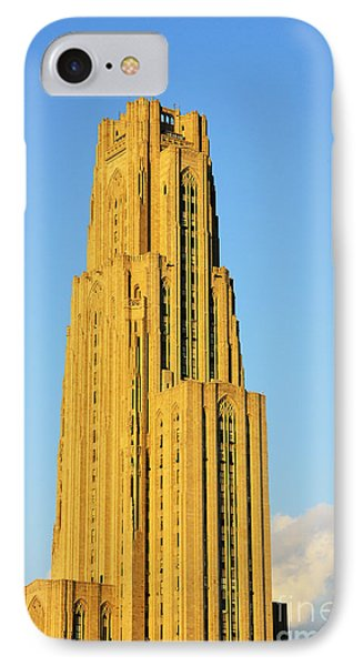 Cathedral Of Learning In Evening Light Phone Case by Thomas R Fletcher