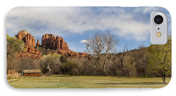 Cathedral Rock From The Park Phone Case by Darcy Michaelchuk