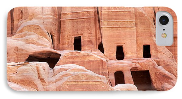 Cave Dwellings Petra. Phone Case by Jane Rix