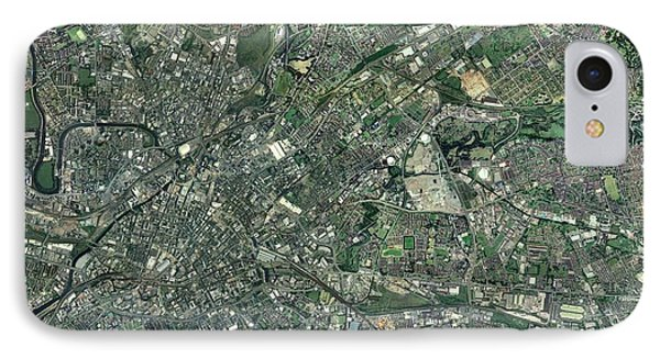 Central Manchester, Aerial View IPhone Case by Getmapping Plc