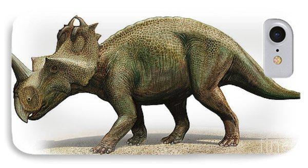 Centrosaurus Apertus, A Prehistoric Era Phone Case by Sergey Krasovskiy