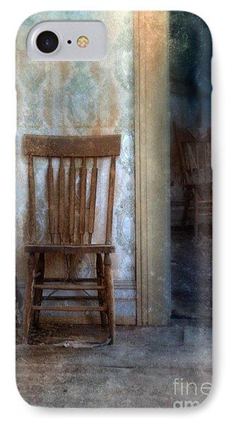 Chairs In Rundown House Phone Case by Jill Battaglia