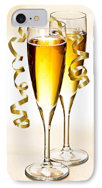 Champagne Glasses IPhone Case by Elena Elisseeva