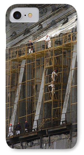 Chernobyl Sarcophagus Repairs, 2006 Phone Case by Ria Novosti