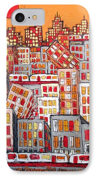 Chicago And The Pepperoni Sun Phone Case by Karl Haglund