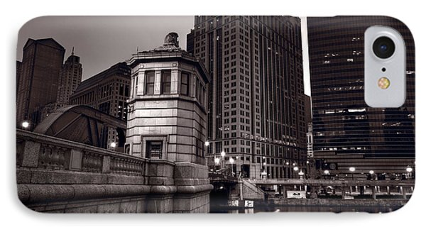 Chicago River Bridgehouse Phone Case by Steve Gadomski