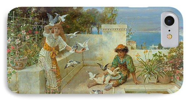 Children By The Mediterranean  Phone Case by William Stephen Coleman