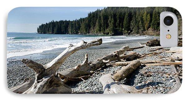 China Driftwood China Beach Juan De Fuca Provincial Park Bc Phone Case by Andy Smy