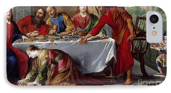 Christ In The House Of Simon The Pharisee IPhone Case by Claude Vignon