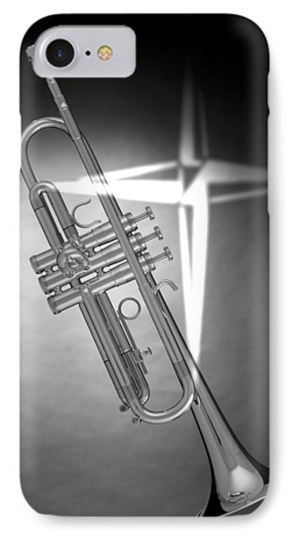 Christian Cross On Trumpet Phone Case by M K  Miller