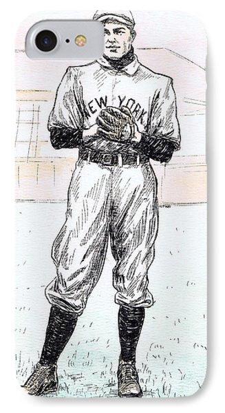 Christy Mathewson Phone Case by Mel Thompson