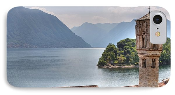 church at the Lake Como IPhone Case by Joana Kruse