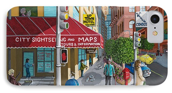 City Corner IPhone Case by Katherine Young-Beck