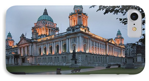 City Hall Illuminated Belfast, County Phone Case by Peter Zoeller