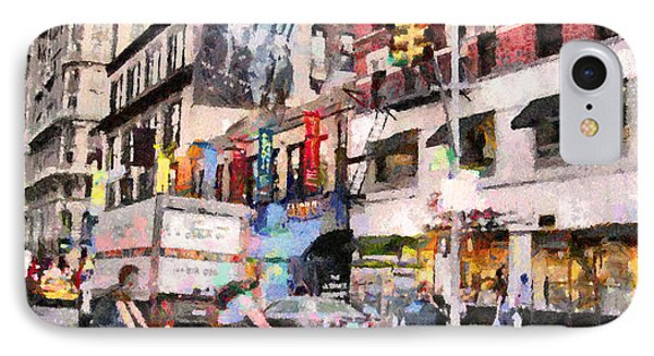 City Street Scene IPhone Case by Anthony Caruso