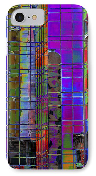 City Windows Abstract Pop Art Colors Phone Case by Phyllis Denton