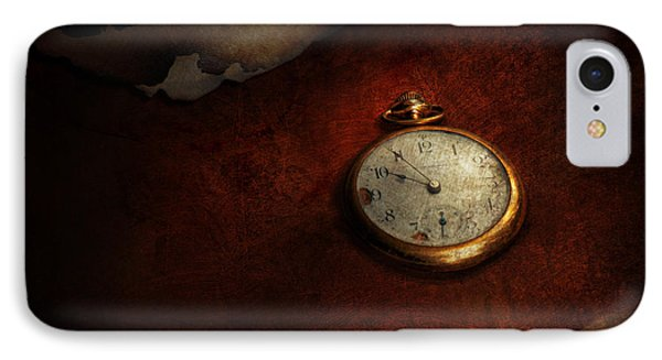 Clock - Time Waits For Nothing  Phone Case by Mike Savad