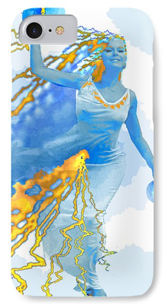 Cloudia Of The Clouds Phone Case by Seth Weaver