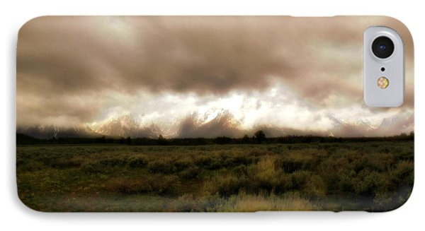Clouds Over The Tetons Phone Case by Ellen Heaverlo