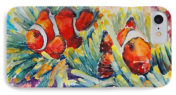 Clownfish In Their Paradise Phone Case by Barbara Pommerenke