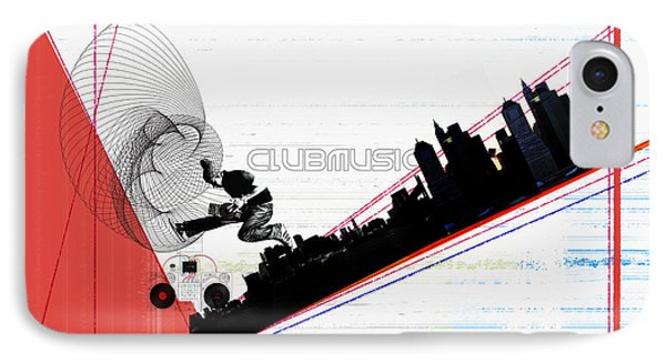 Clubmusic IPhone Case by Naxart Studio