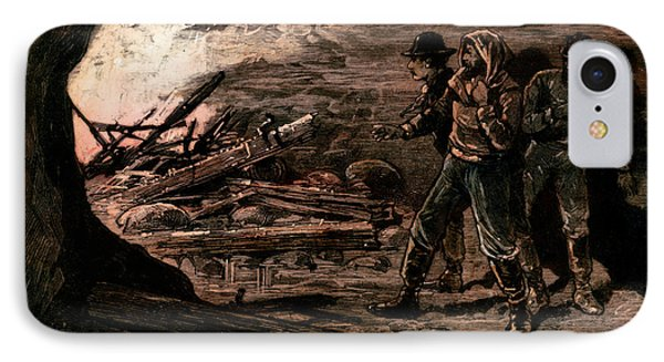 Coal Mine Explosion, 1884 Phone Case by Granger