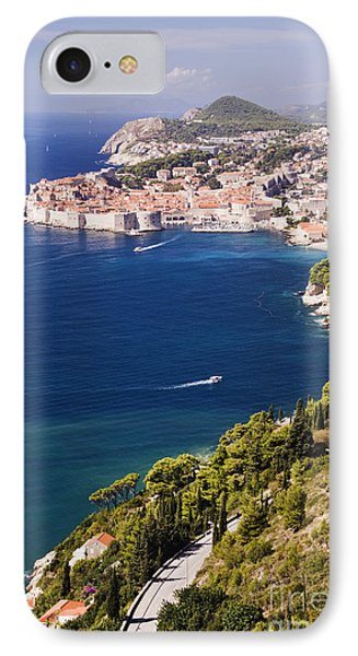 Coastal View Of The Old Town Of Dubrovnik Phone Case by Jeremy Woodhouse