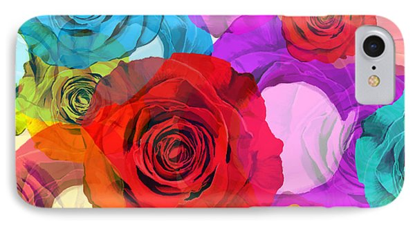 Colorful Floral Design  IPhone Case by Setsiri Silapasuwanchai