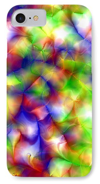 Colorful Fractal Abstract  IPhone Case by Gina Lee Manley