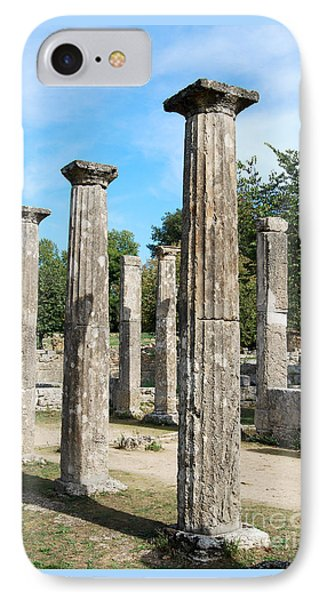 Columns At Olympia Greece IPhone Case by Eva Kaufman