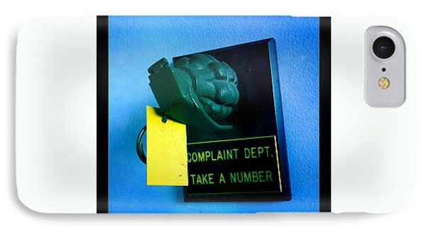 Complaint Dept Phone Case by Nina Prommer