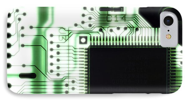 Computer Circuit Board Phone Case by Tim Vernonlth Nhs Trust