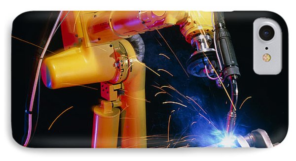 Computer-controlled Arc-welding Robot Phone Case by David Parker, 600 Group Fanuc